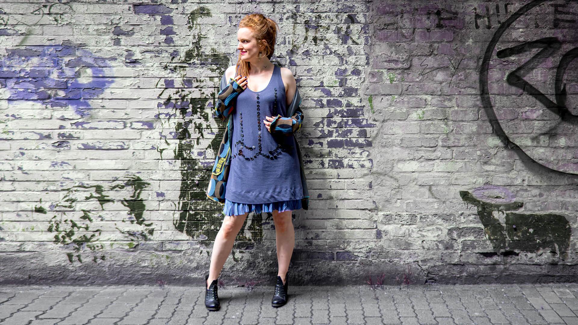 #koppel66 Kleid Knopfspiel und Mantel Ewa Kuich