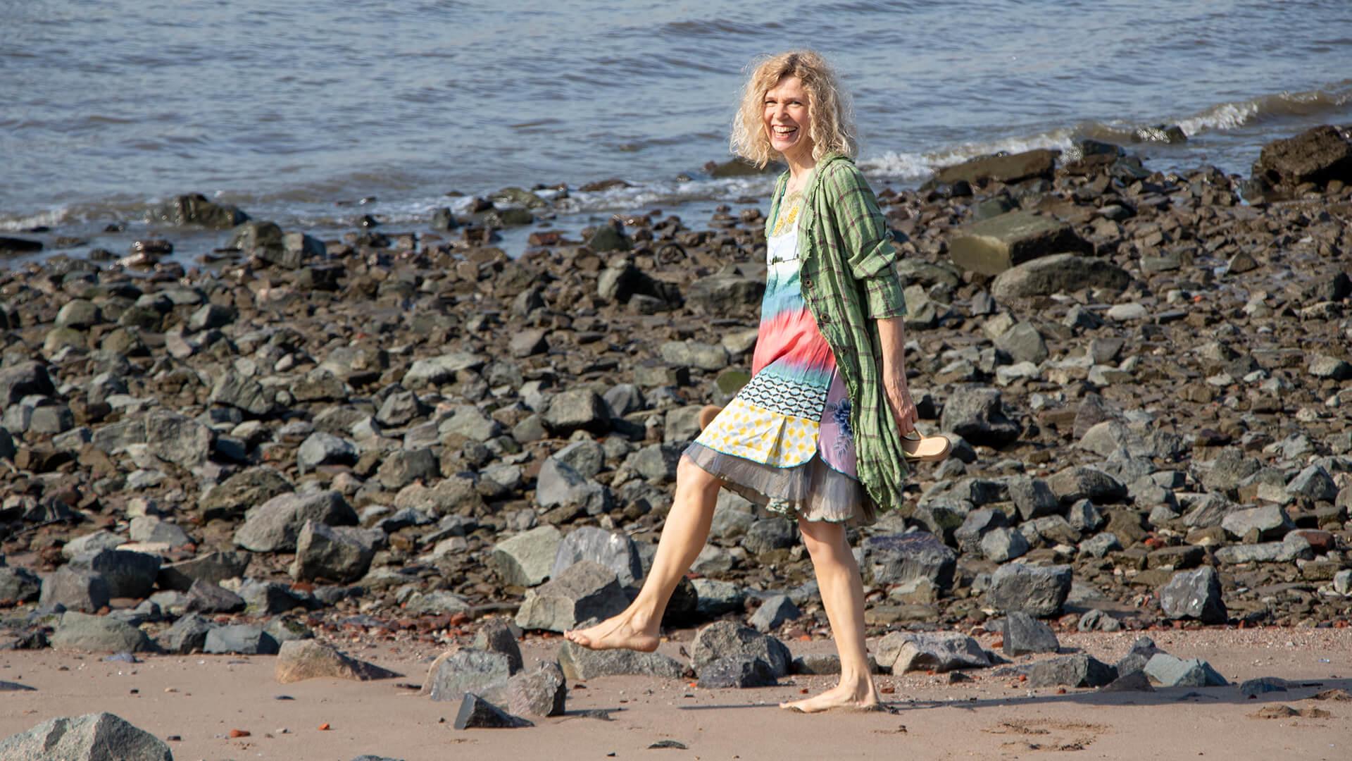 Palmen Beach Kleid und Mantel Ewa Kuich