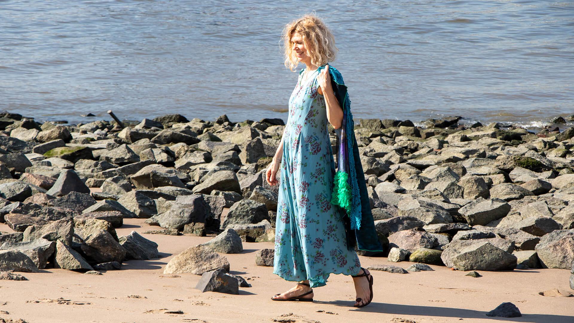 Wasserblau Kleid Ewa Kuich