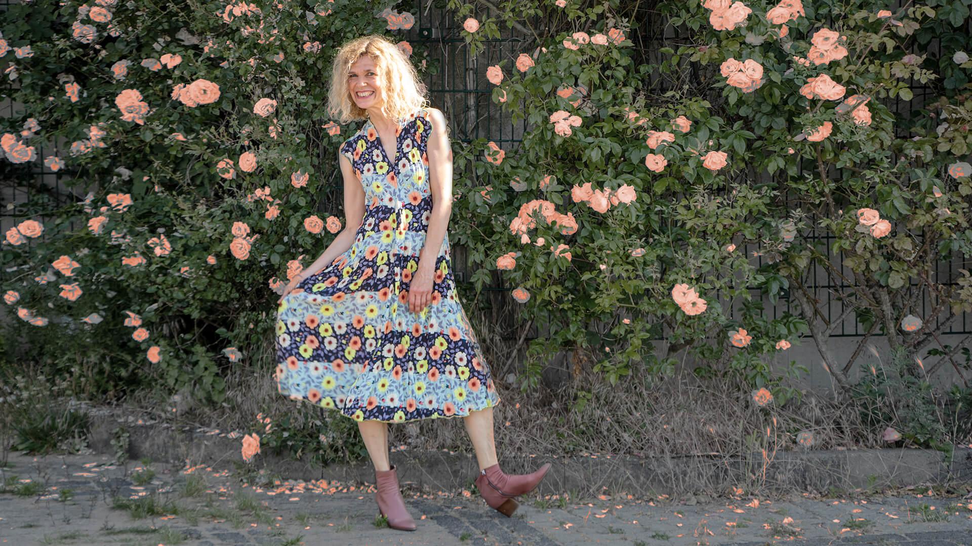 #Sommerkleid #blumenmeer Seidenleicht