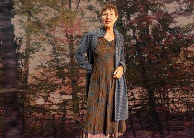 Winterkollektion 2020 Kleid Mantel