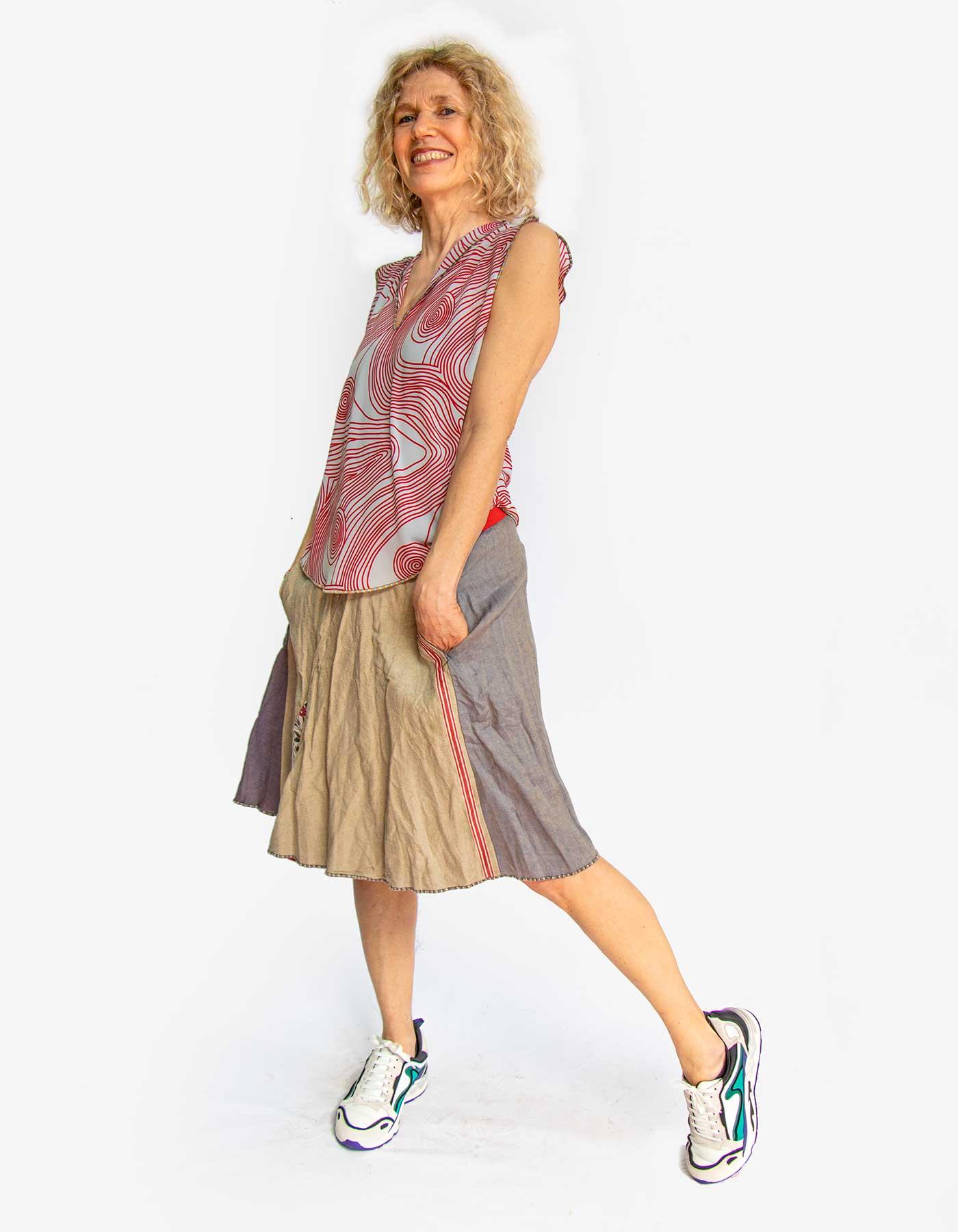 Kleider von Ewa Kuich Rock Upcycling + Luftgewicht Minitop