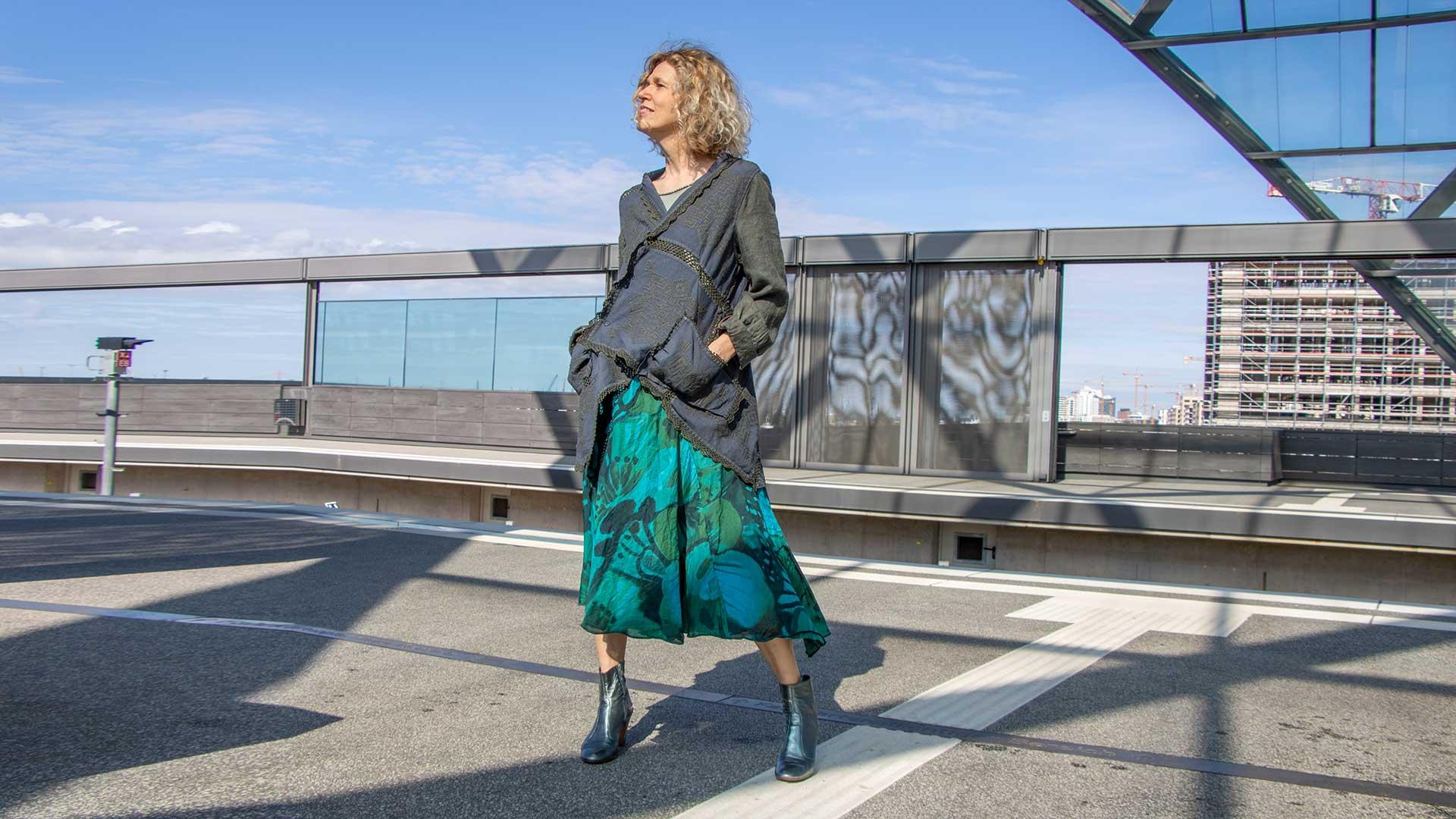 Upcycling Kleider von Ewa Kuich Jacke also: zweites Leben für altes Leinen… Rock flatternde Baumwolle